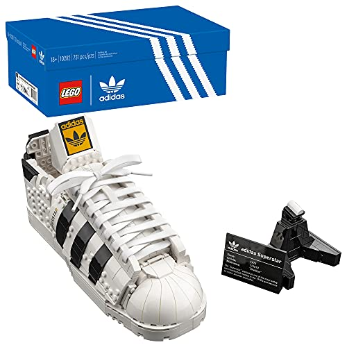 LEGO Adidas Originals Superstar 10282 Building Kit; Build and Display The Iconic Sneaker; New 2021 (731 Pieces)