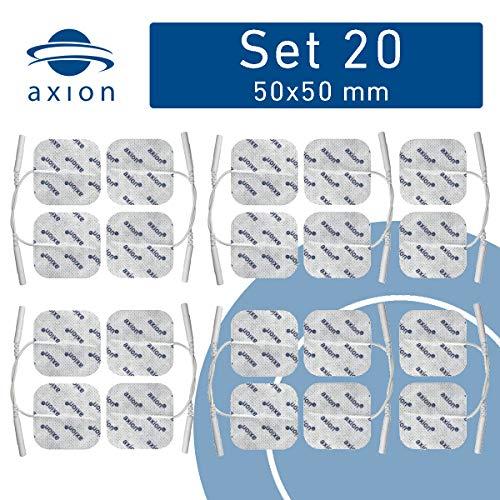 20 TENS-Elektroden 50x50 mm - Universal Elektroden-Pads für TENS & EMS - axion