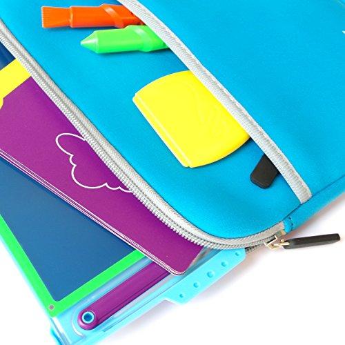 Xcivi Neoprene Protective Carry Case for Boogie Board Magic Sketch Kit (Blue)