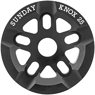 Sunday Bikes Knox 25t Black Bicycle Sprocket with Grind Guard