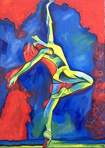 Exklusive-ART, Bild, handmade, original, painting, acryl, modern, abstrakt, XXL, Titel: born to dance (100 cm x 140 cm)