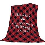 Teamery All Season Bed Blanket Fleece Blanket Throw Lightweight Super Soft Cozy Luxury Microfiber - This is My Christmas Movie Watching Blanket (40 x 50 Inches)
