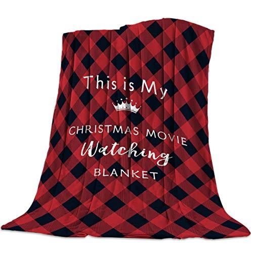 Teamery All Season Bed Blanket Fleece Blanket Throw Lightweight Super Soft Cozy Luxury Microfiber - This is My Christmas Movie Watching Blanket (50 x 60 Inches)