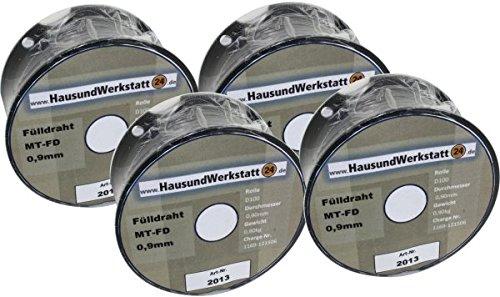 Fülldraht 4 Rollen x 0,9mm 1,0 Kg für Güde Rowi u.a. von deutschem Markenhersteller