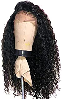 RIKA HAIR Pre Plucked Curly Bob Full Lace Wigs For Black Women Glueless Kinky Curly Lace Wigs With Baby Hair Brazilian Vrigin Human Hair 12 inch