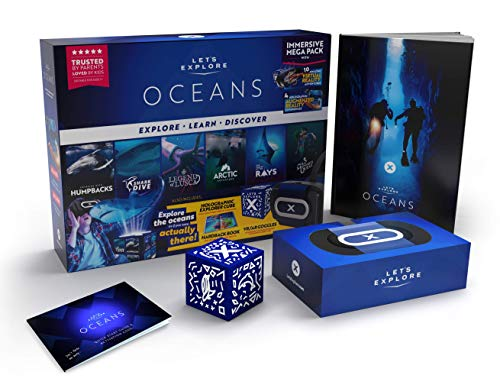 Let's Explore: VR Headset for Kids with Oceans - A Virtual Reality Family Friendly Adventure to Swim with Whales, Sharks, and Encounter Polar Bears Through Augmented Reality, Smartphone Compatibility