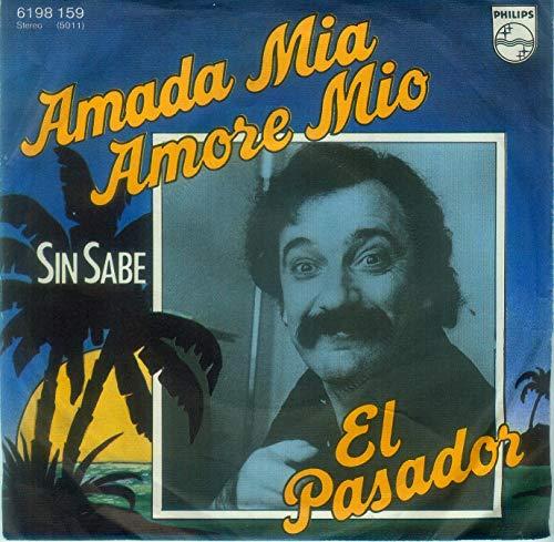 """EL PASADOR / Amada Mia Amore Mio / SIN SABE / 1977 / Bildhülle / PHILIPS # 6198 159 / 6198159 / Deutsche Pressung / 7"""" Vinyl Single Schallplatte / AUS DEM TV-FILM """"DIE VORSTADTKROKODILE"""" / Filmmusik / Original Sound Track / OST /"""