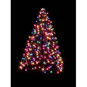 bf0da219defd Crab Pot Trees 4 ft. Indoor/Outdoor Pre-Lit LED Artificial Christmas Tree  with Green Frame and 240 Multi-Color LightsCrab Pot Trees 4 ft.