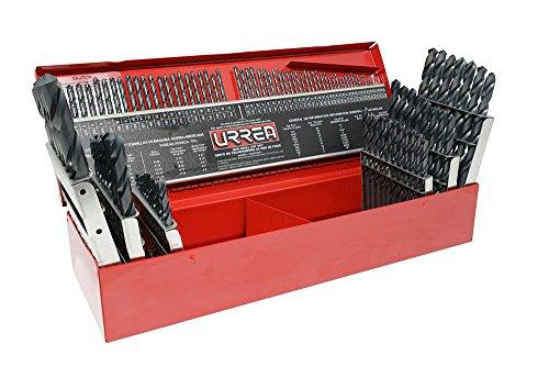 Urrea 51115 Juego de 115 Brocas de Acero de Alta Velocidad para Uso Industrial, color negro