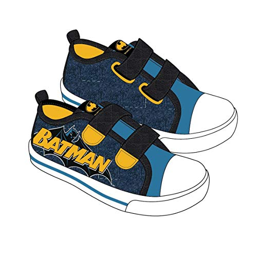 Cerdá Jungen Zapatilla Loneta Baja Batman Hohe Sneaker, Blau Blau C04, 27 EU