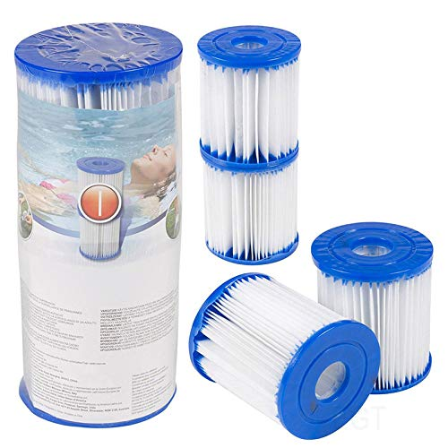 YUKFGH PureSpa Type Replacement Filter Cartridge Inflatable Swimming Pool Pump Easy Set Up Cartridges HG99,Blue(4 x Filters)