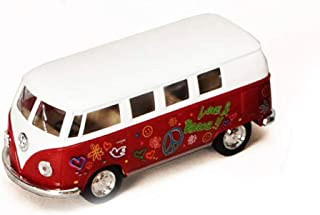 1962 Volkswagen Classic Bus with Decals 1/32 scale Die Cast Model Toy Car - RED