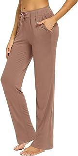 fitglam Women's Lounge Pants, Loose High Waist Yoga Pants, Drawstring Pajama Bottoms with Pockets