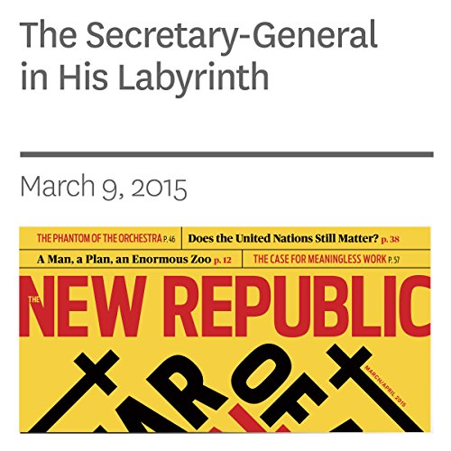 The Secretary-General in His Labyrinth audiobook cover art