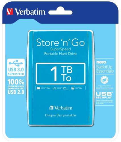 "HDD EXT 2.5"" 1TB USB3 Pastel Blue"