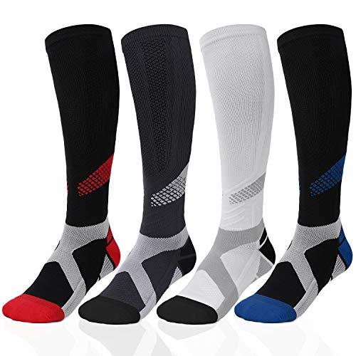 Women & Men Knee High Compression Socks 20-30mmHg Circulation for Nurse Pregnancy