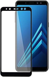 واقي شاشة زجاجي مقوى ثلاثي الأبعاد لهواتف سامسونج جالاكسي A8 (2018) - اسود