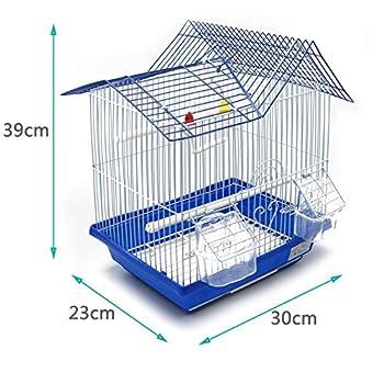 BPS Bird Cage Metal avec Feeder Drinker Swing Jumper Color Bucket Envoyer au Hasard 30 x 23 x 39 cm BPS-1164, Rose