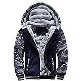 LiGG Homme Veste à Capuche avec Zippée Manches Longues Épaisse Manteau à Capuche Hiver...