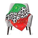 pengxuelinshop Kinderbett-Decken, Fußball und Rugby, superweiche Babydecke für Kinder