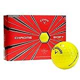 Callaway Golf Chrome Soft Golf Balls, (One Dozen), Yellow (Prior Generation)