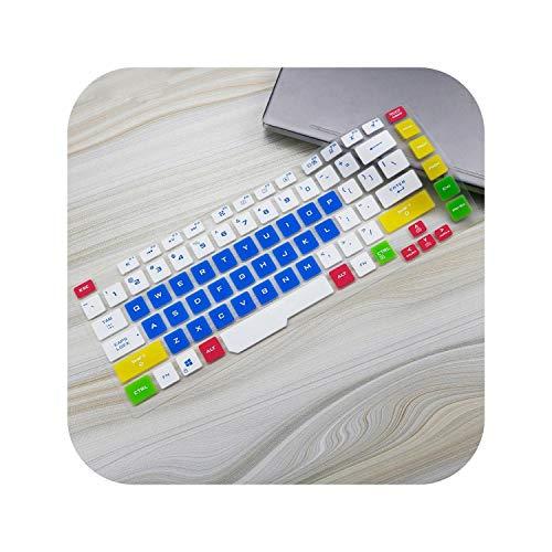 Funda protectora de silicona para teclado ASUS ROG Strix G G531 15 G531G G531GU G531GD G531GT G531GW de 15,6', color azul