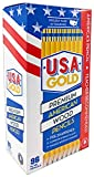U.S.A. Gold Pre-sharpened American Wood Cased #2 HB Yellow Pencils, 96 Pack