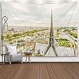Bunkert Tapisseries Décoration Salon Chambre pour 60X50 Pouces Panorama Paris Les Îles Rivière de la Cathédrale De France Seine Notredame