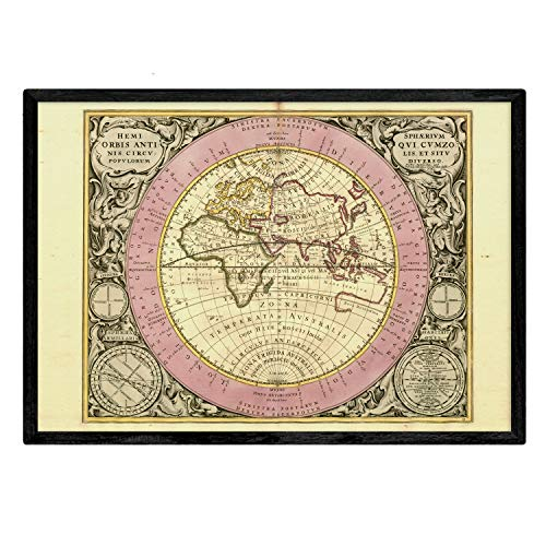 Nacnic Láminas con Mapa astronomico Antiguo. Poster de Mapa