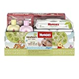 Huggies Newborn Gift Box - Little Snugglers Diapers (Size Newborn 24 Ct & Size 1 32 Ct), Natural Care Unscented Baby Wipes (96 Ct Total), and Johnson's Shampoo & Baby Lotion (Packaging May Vary)
