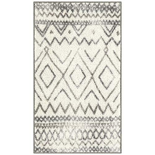 distressed abstract diamond rug