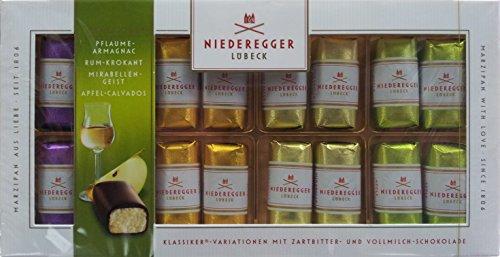 Niederegger Marzipan Klassiker Variationen alkoholisch, 3er Pack (3 x 200 g) …