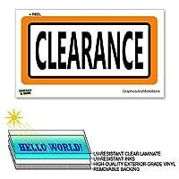 クリアランス - 12×6で - ラミネート符号ウィンドウビジネスステッカー