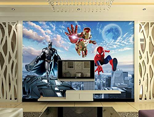 Benutzerdefinierte Große Fototapete 3d-wandbild Avengers Kinderzimmer Schlafzimmer Junge Hintergrund Superman Spiderman Wallcover