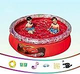 Dljyy Piscina Piscina Infantil Inflable for niños, por Encima del Suelo Sencilla, 198x51cm, Apto for 2-4 Personas