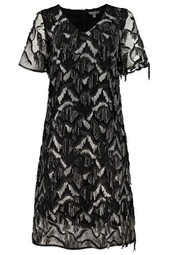 Ulla Popken Damen große Größen Abendkleid schwarz 42 725744 10-42