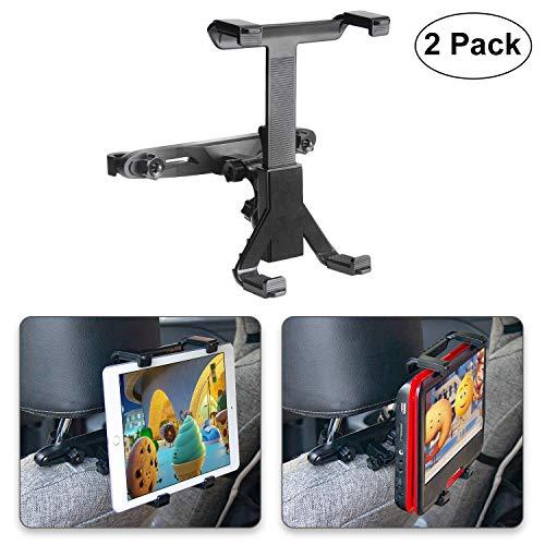 """POMILE Auto Kopfstützenhalterung für DVD Player, Verstellbare Autositz Kopfstütze Halterung für tragbare DVD-Player, Apple iPad Air / Mini, Samsung Galaxy Tab, Kindle Fire, 7\"""" ~ 12\"""" Tablets (2 Stück)"""