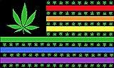 American USA Rainbow Pot Leaves 3 X 5 Marijuana Flag