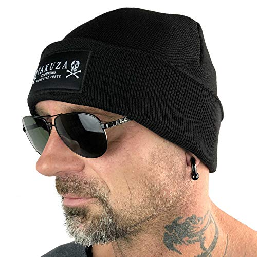 Yakuza Unisex Skull Knit Beanie Mütze