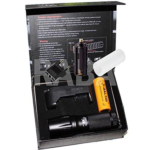 Linterna LED recargable de 5000 lúmenes X900 con 1 LED CREE XML-T6 resistente a la lluvia y a los golpes.