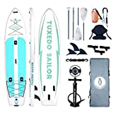 Inflatable 12'×34'×6' SUP with Kayak Conversion Kits Everything Included with Paddle Board, Adj 2...