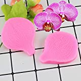 YUIOP 2 unids/Set orquídeas pétalos de Flores Molde de Silicona Flor Fondant moldes de decoración de Pasteles confitería Herramientas para Hornear Chocolate Caramelo Mou