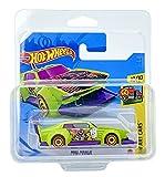 Hot Wheels Mad Manga (verde lima) 10/10 HW Art Cars 2021 - 159/250 (tarjeta corta) GTC32 *** Viene en una funda protectora para el mantenimiento del coche KLAS ***