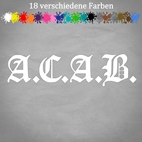 A.C.A.B. 20x5cm Aufkleber 1312 Sticker Graffiti ACAB Tuning Tatto Skin Shocker in 18 Farben
