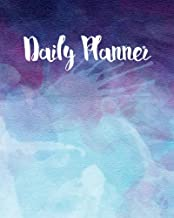Daily Planner: Watercolor Splashes Time Management Journal to Do List Planner Daily Task Meals Exercise Notebook Organizer Size 8x10 Inches 100 Pages
