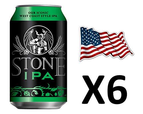 Cerveza Americana Stone IPA, Indian Pale Artesanal, Pack de 6 unidades