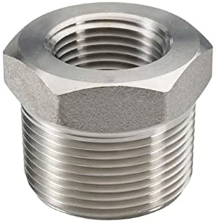 3//4 Male NPT to 1//2 Female NPT Reducing Cast Pipe Adapter Fitting Beduan Stainless Steel Reducer Hex Bushing