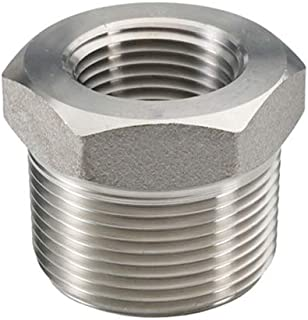 """Beduan Stainless Steel Reducer Hex Bushing, 1"""" Male NPT to 3/4"""