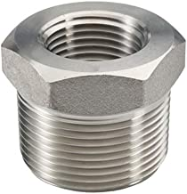 """Beduan Stainless Steel Reducer Hex Bushing, 3/4"""" Male NPT to 1/2"""