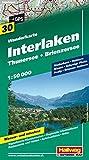 Interlaken, Thunersee, Brienzersee Wanderkarte Nr. 30, 1:50 000: Niederhorn, Habkern, Niesen, Schynige Platte, Axalp, Brienzer Rothorn (Hallwag Wanderkarten) - Hallwag Kümmerly+Frey AG